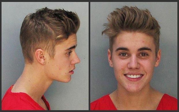 Justin Bieber arrestato - foto segnaletica
