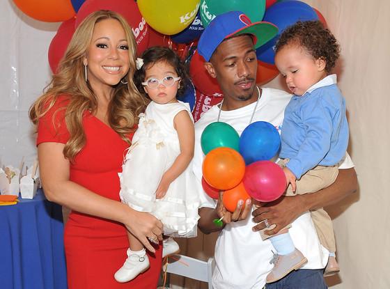 Mariah Carey e Nick Cannon e i loro 2 figli